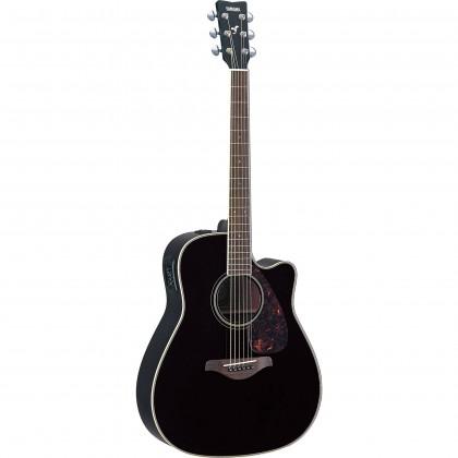 Yamaha FGX720SCA Dreadnought Cutaway Acoustic-Electric Guitar - Black (FGX-720SCA)