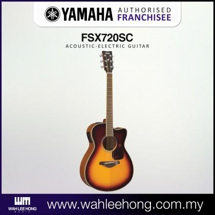 Yamaha FSX720SC Small Body Cutaway Solid Spruce Top Acoustic-Electric Guitar - Brown Sunburst (FSX-720SC)